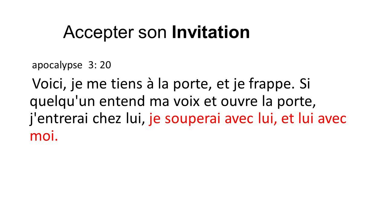 Accepter son Invitation