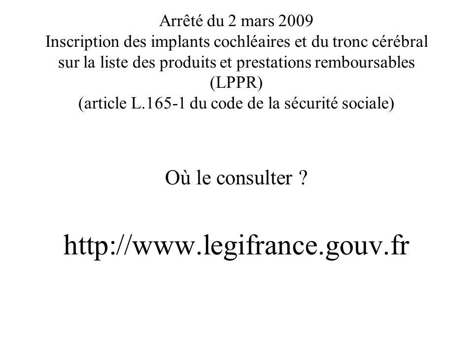 http://www.legifrance.gouv.fr Où le consulter