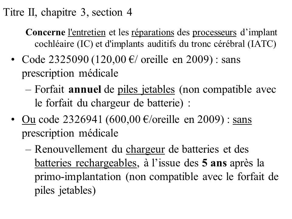 Titre II, chapitre 3, section 4