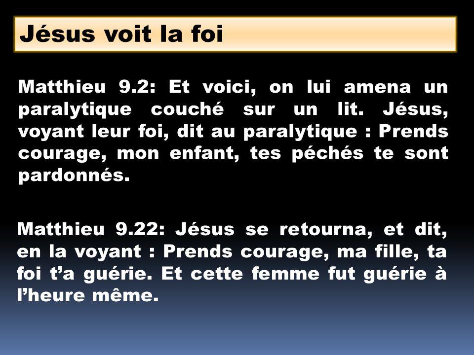 Jésus voit la foi
