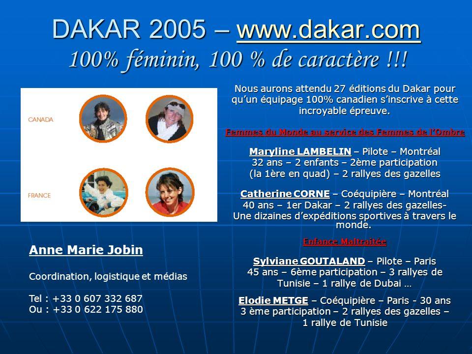 DAKAR 2005 – www.dakar.com 100% féminin, 100 % de caractère !!!