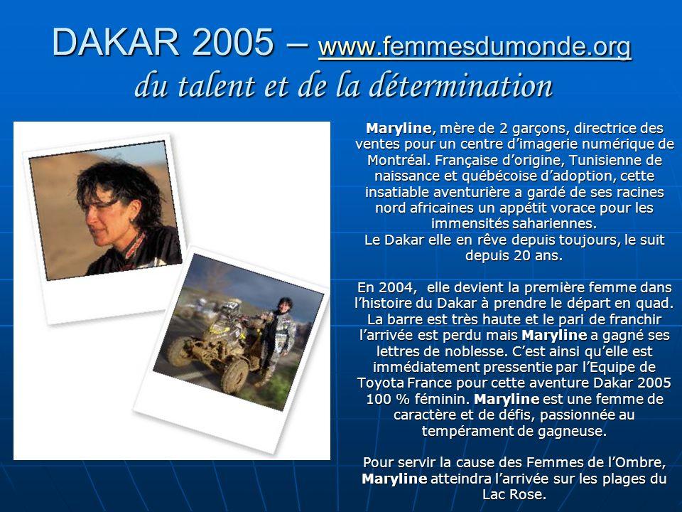 DAKAR 2005 – www.femmesdumonde.org du talent et de la détermination