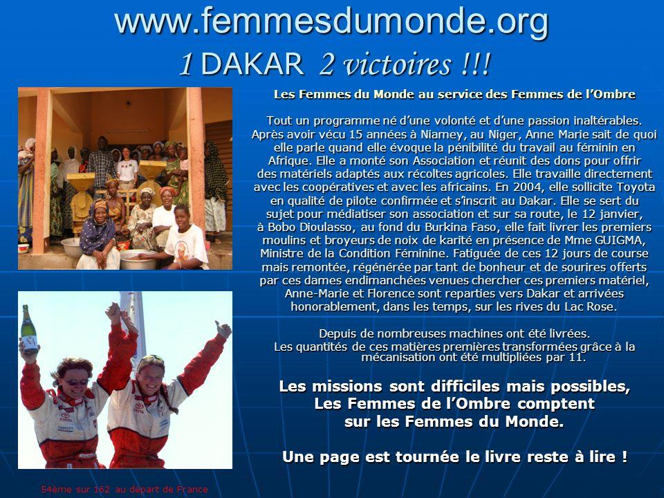 www.femmesdumonde.org 1 DAKAR 2 victoires !!!