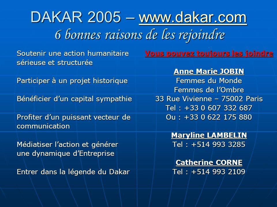 DAKAR 2005 – www.dakar.com 6 bonnes raisons de les rejoindre