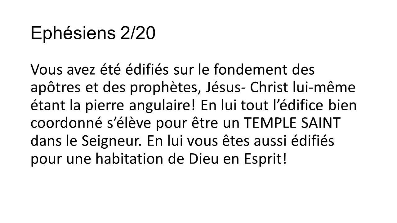 Ephésiens 2/20