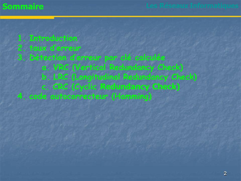 3. Détection d'erreur par clé calculée
