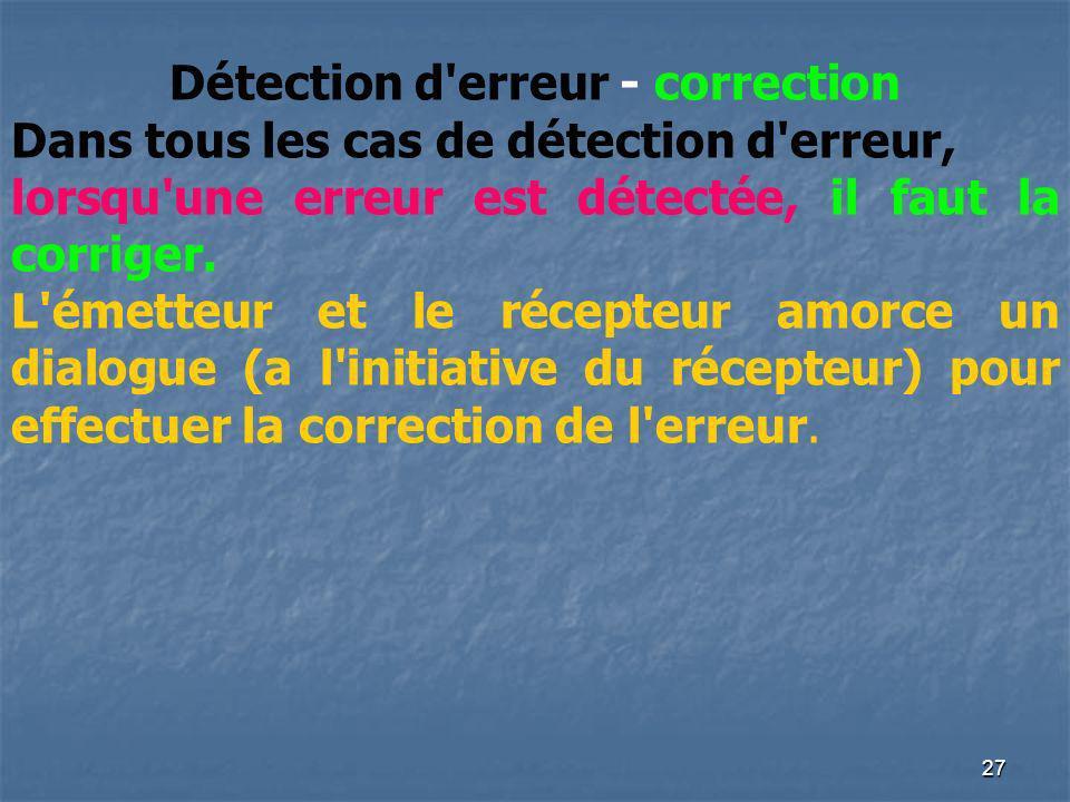 Détection d erreur - correction