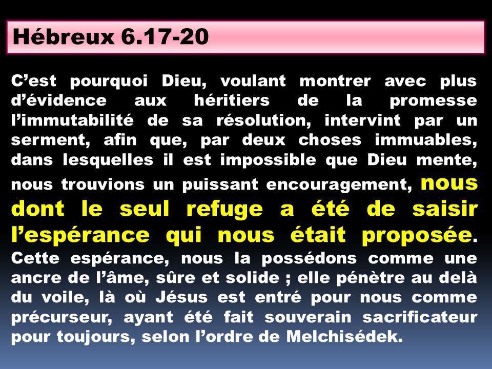 Hébreux 6.17-20