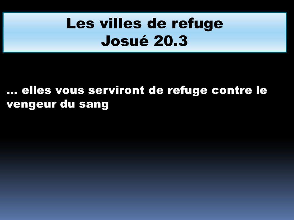 Les villes de refuge Josué 20.3