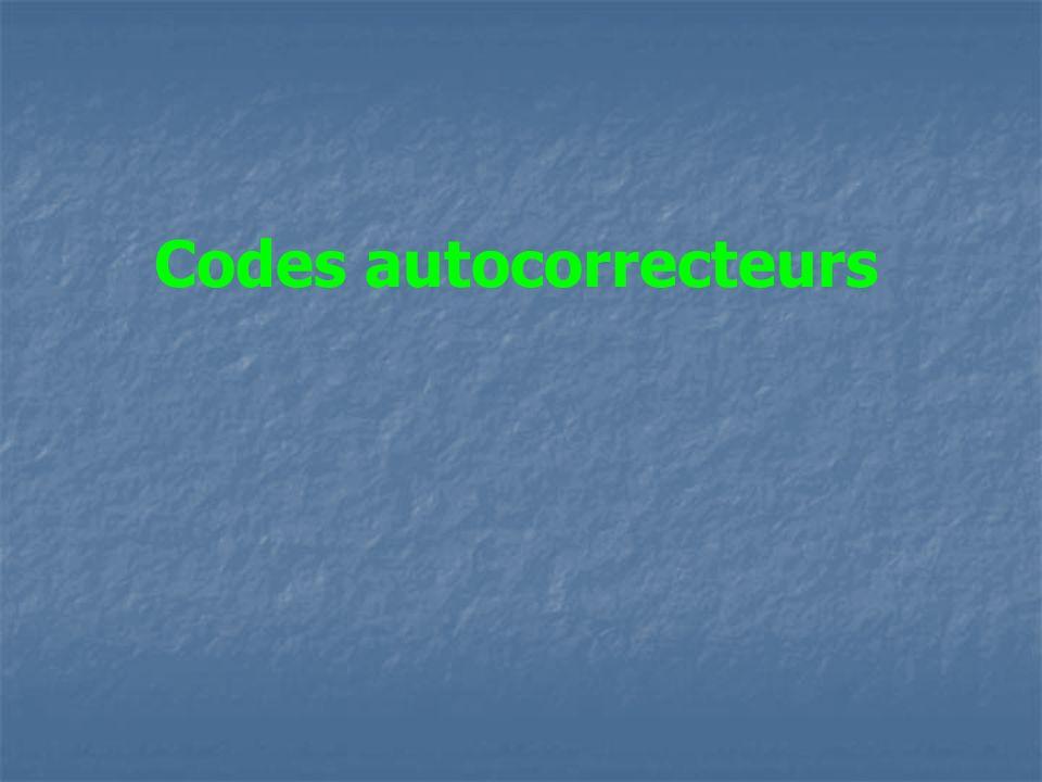 Codes autocorrecteurs