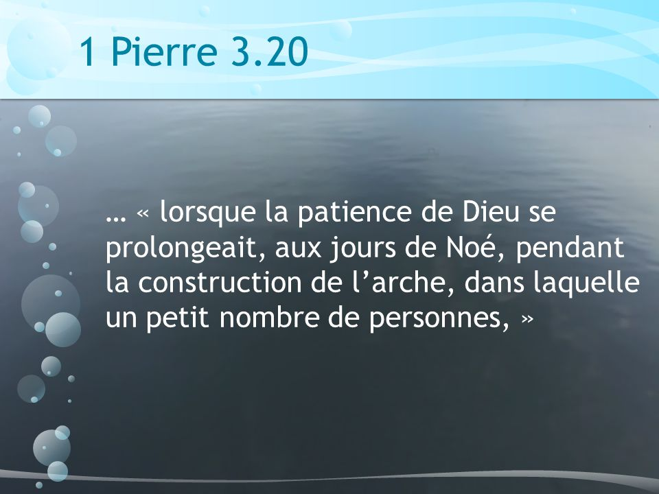 1 Pierre 3.20