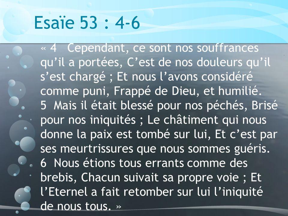 Esaïe 53 : 4-6
