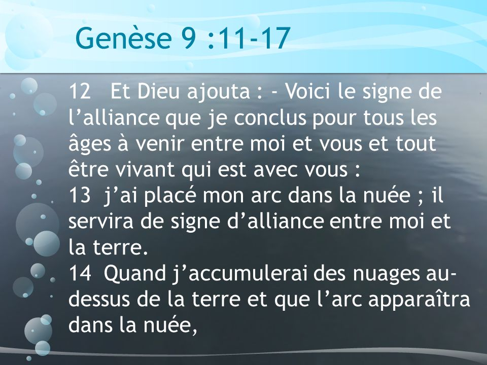 Genèse 9 :11-17