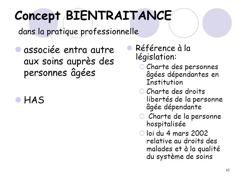 Concept BIENTRAITANCE dans la pratique professionnelle