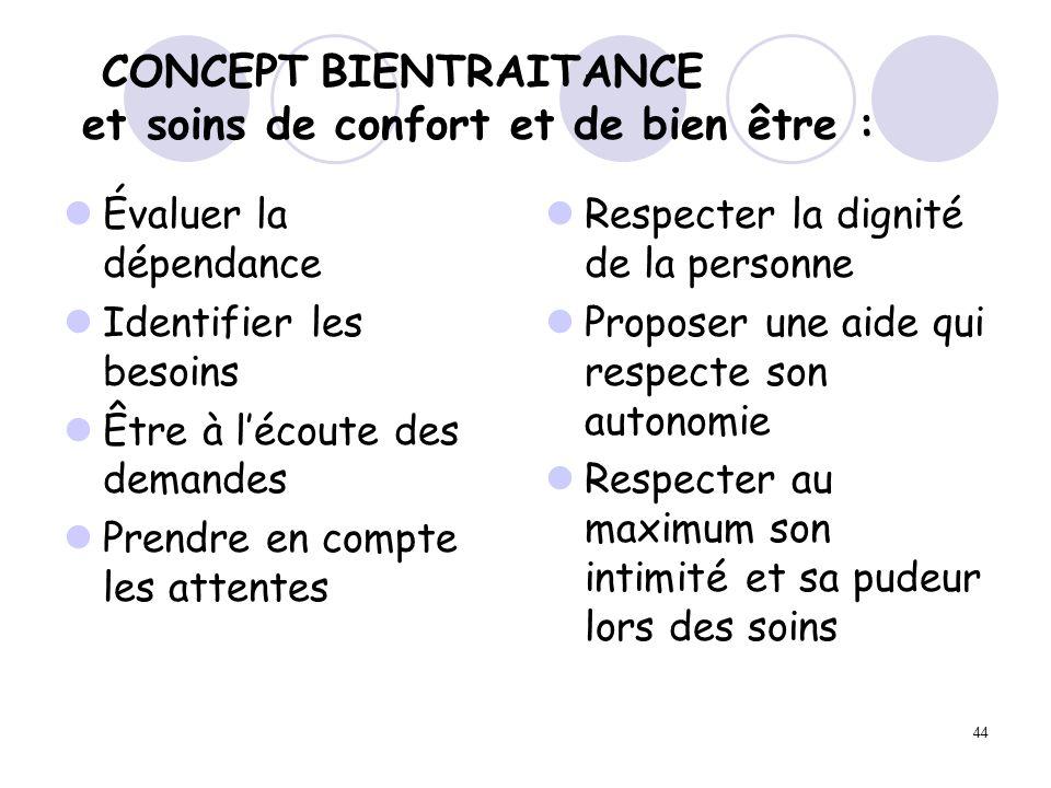 CONCEPT BIENTRAITANCE et soins de confort et de bien être :
