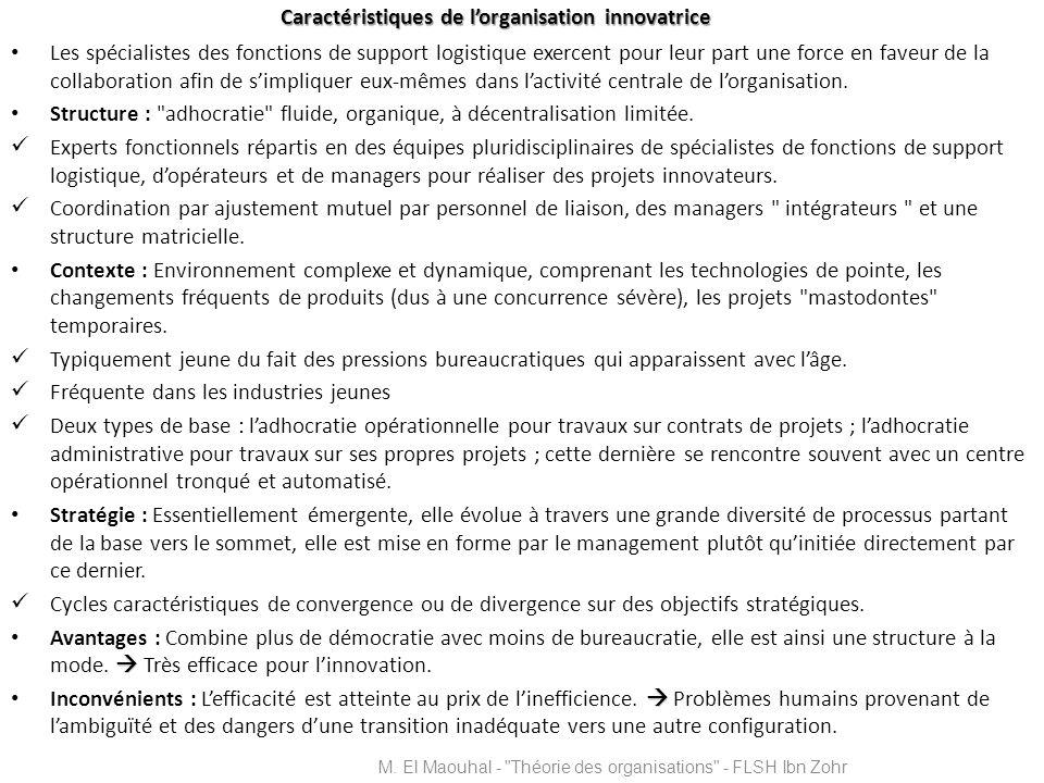 Caractéristiques de l'organisation innovatrice