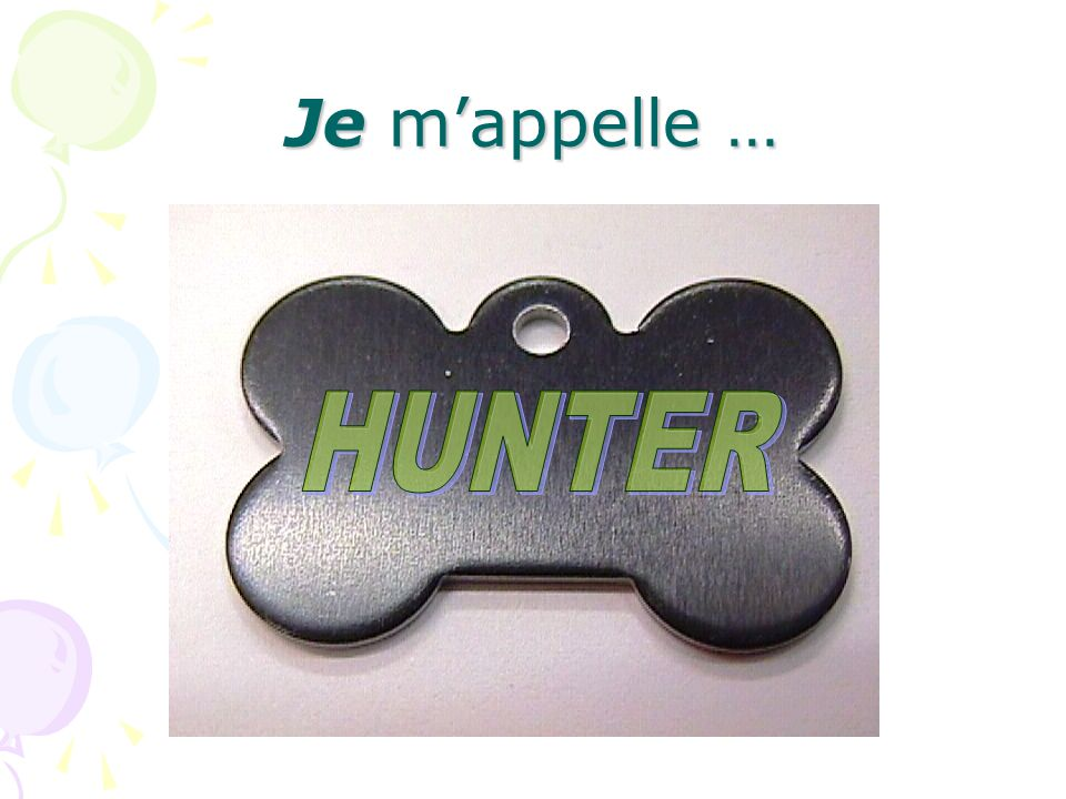 Je m'appelle … HUNTER