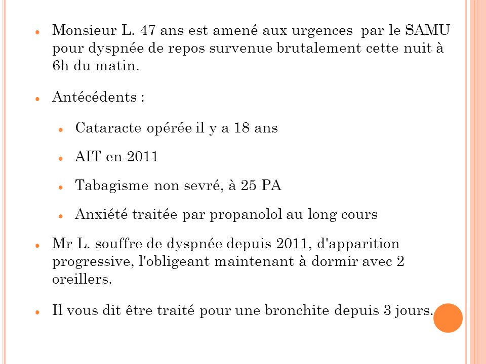 Cataracte opérée il y a 18 ans AIT en 2011
