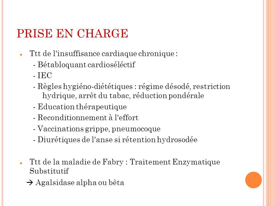 PRISE EN CHARGE Ttt de l insuffisance cardiaque chronique :