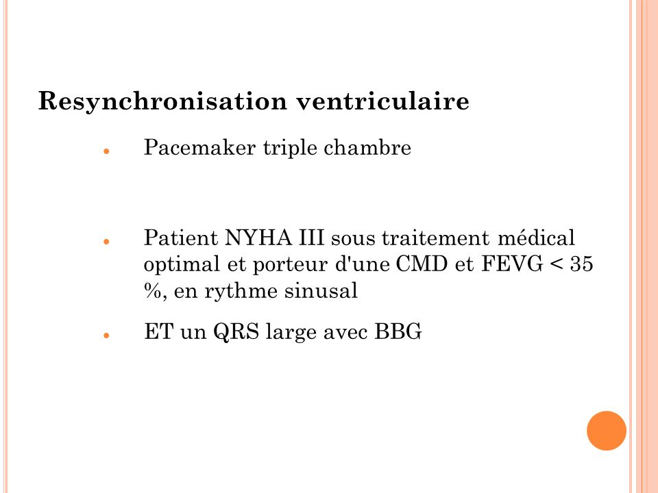 Resynchronisation ventriculaire