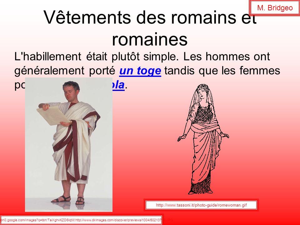 Vêtements des romains et romaines