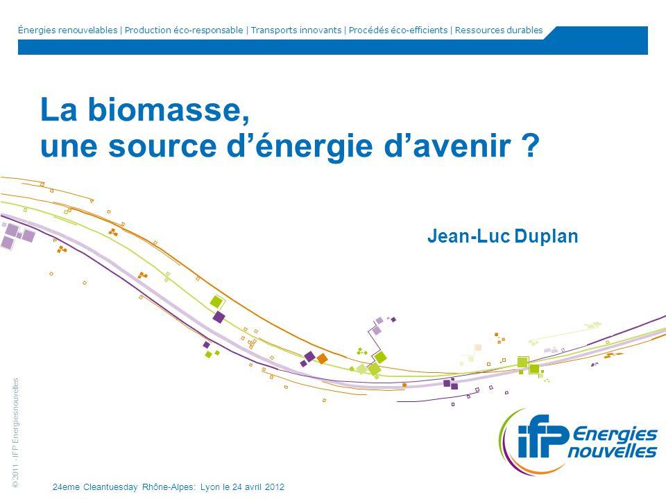 La biomasse, une source d'énergie d'avenir