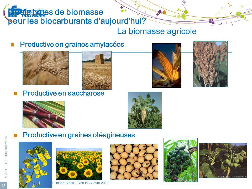 Quels types de biomasse pour les biocarburants d aujourd hui