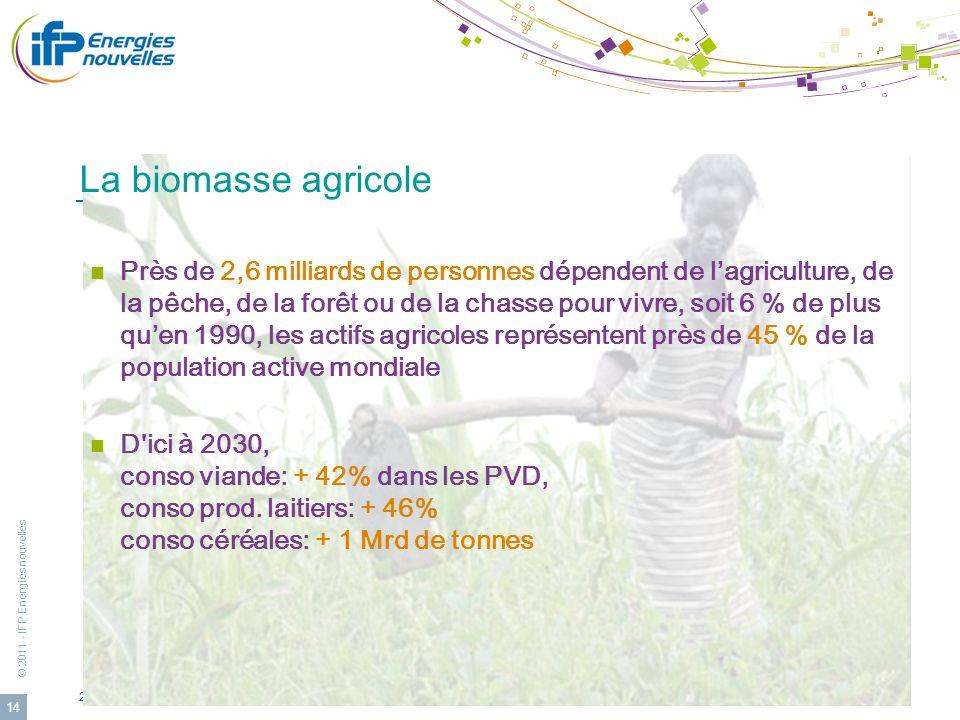 La biomasse agricole