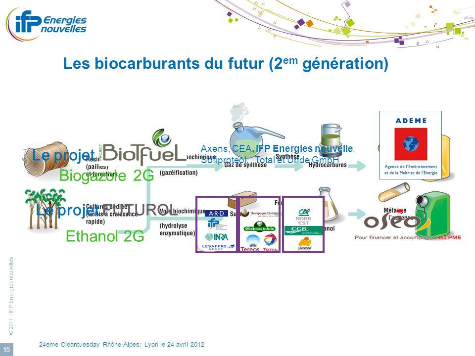 Les biocarburants du futur (2em génération)