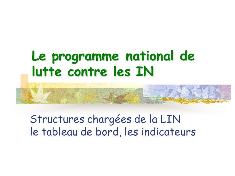 Le programme national de lutte contre les IN