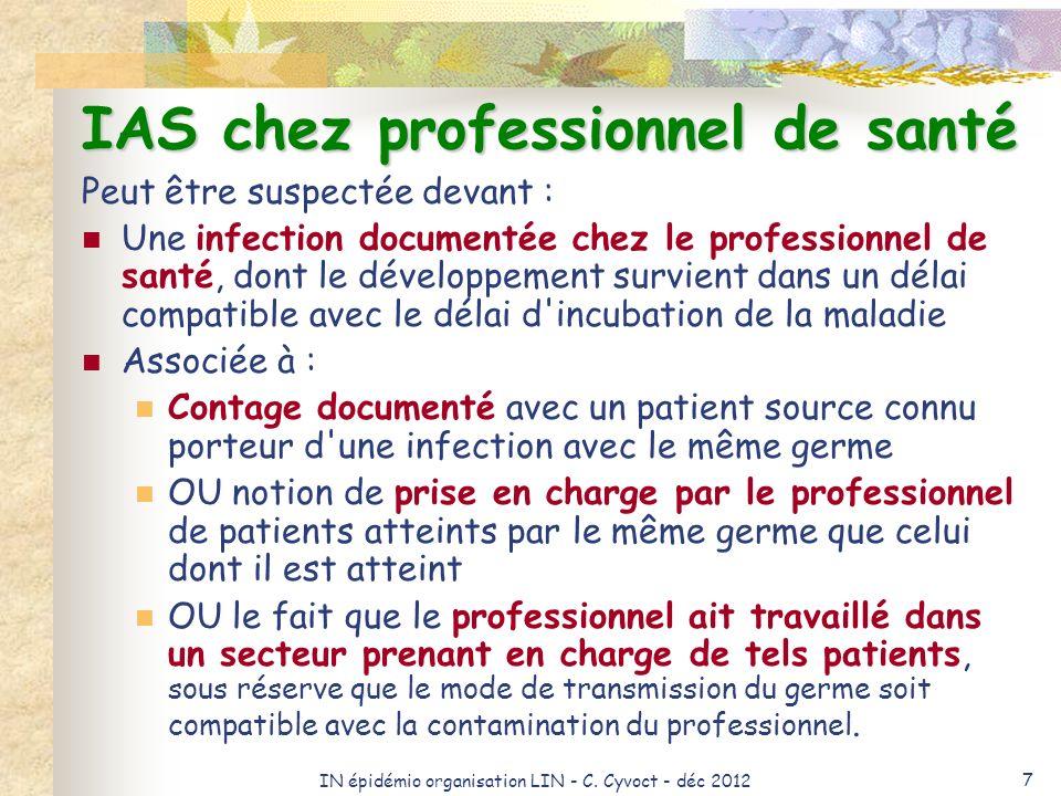 IAS chez professionnel de santé