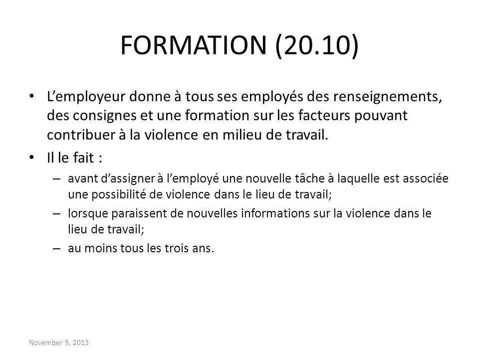 FORMATION (20.10)