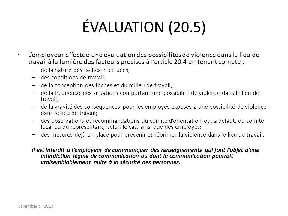 ÉVALUATION (20.5)