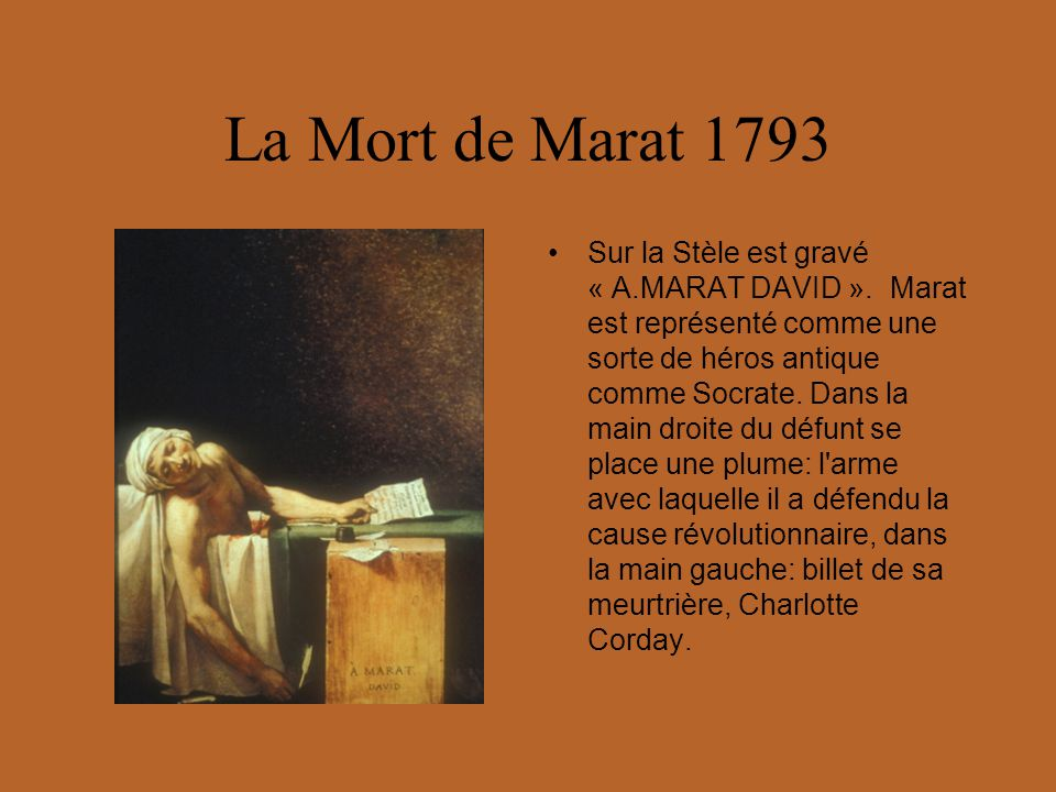 La Mort de Marat 1793