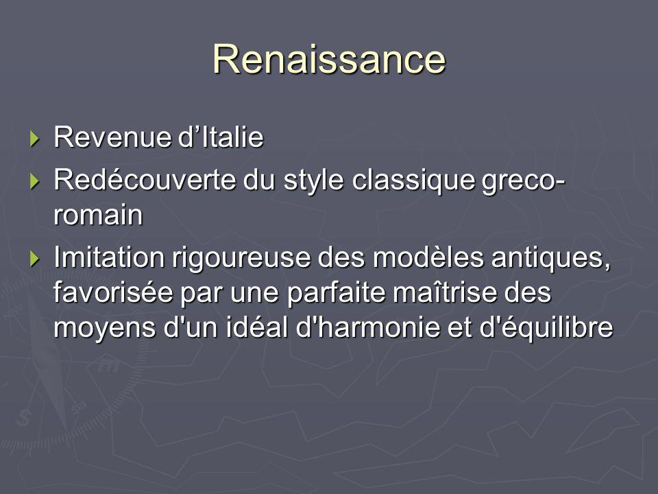 Renaissance Revenue d'Italie
