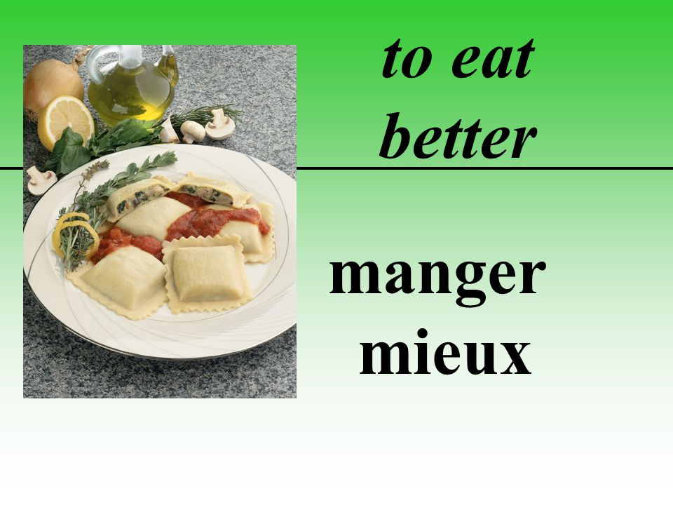 to eat better manger mieux