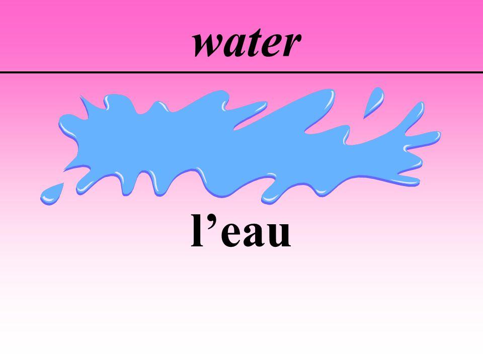 water l'eau