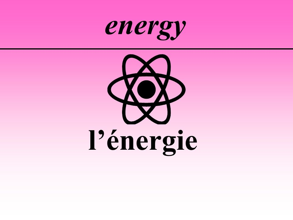 energy l'énergie