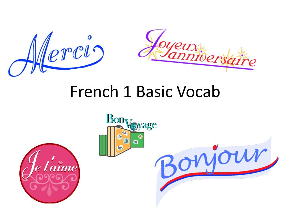 French 1 Basic Vocab
