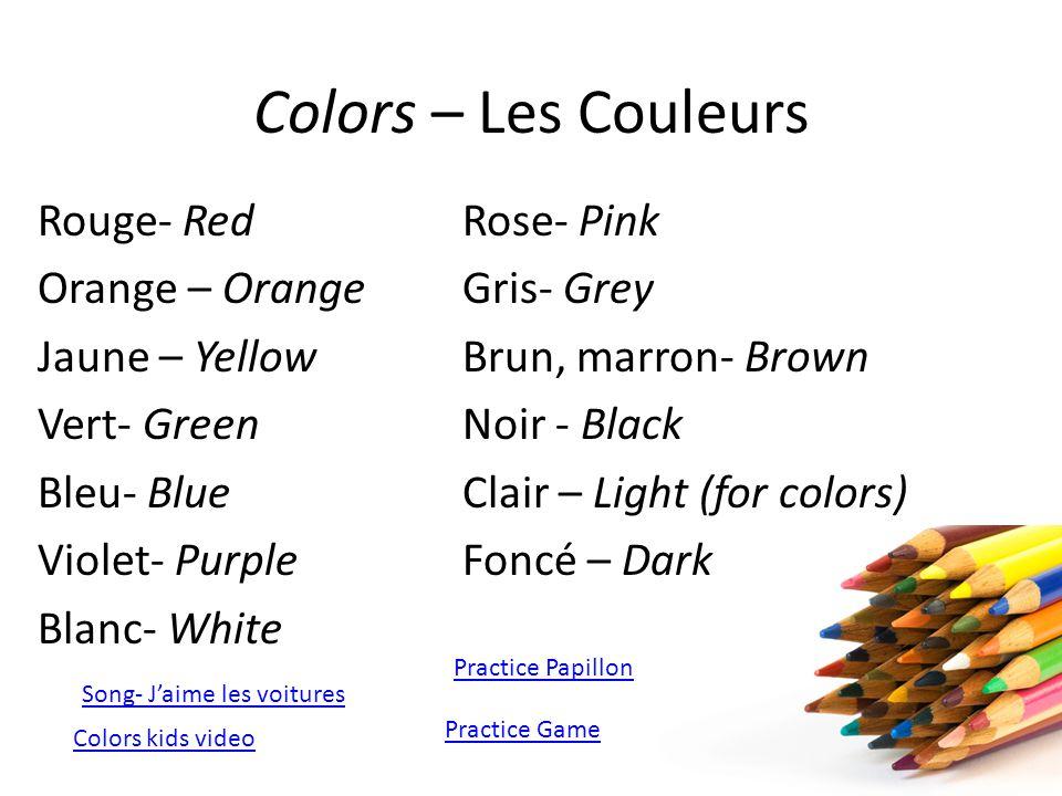 Colors – Les Couleurs