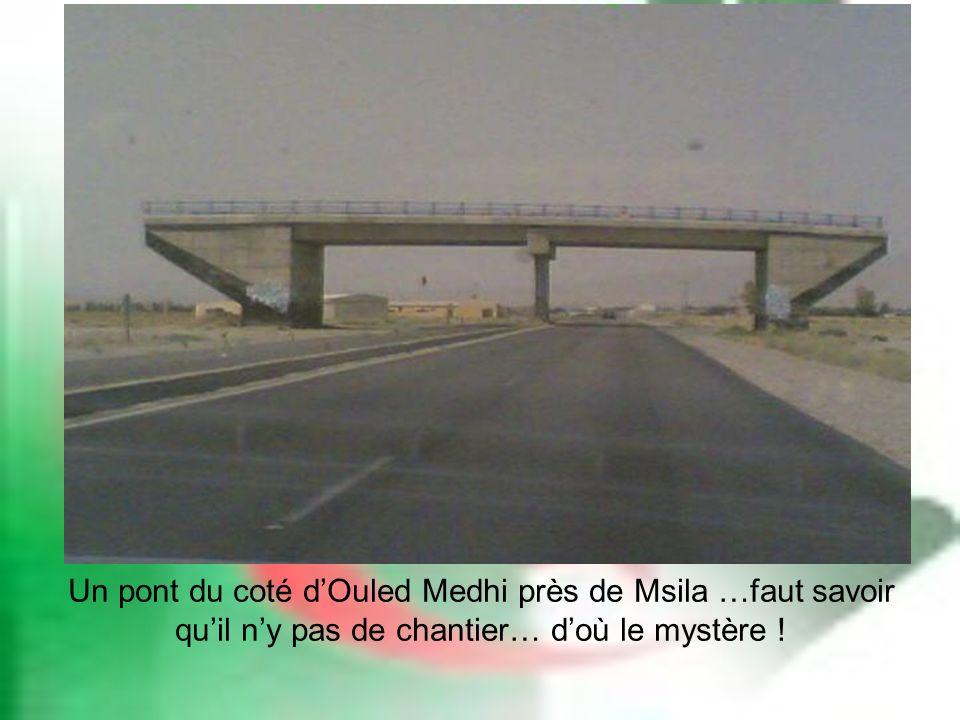 Un pont du coté d'Ouled Medhi près de Msila …faut savoir qu'il n'y pas de chantier… d'où le mystère !