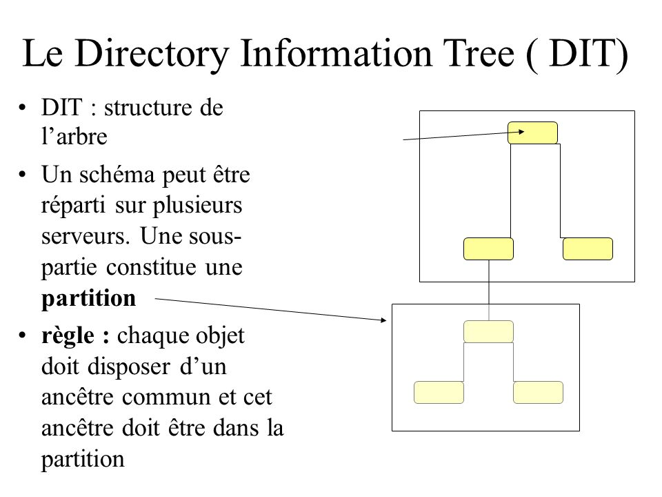 Le Directory Information Tree ( DIT)‏