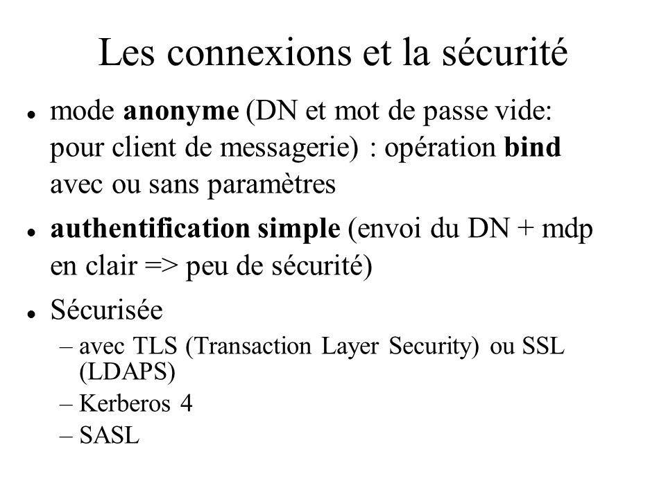 Les connexions et la sécurité