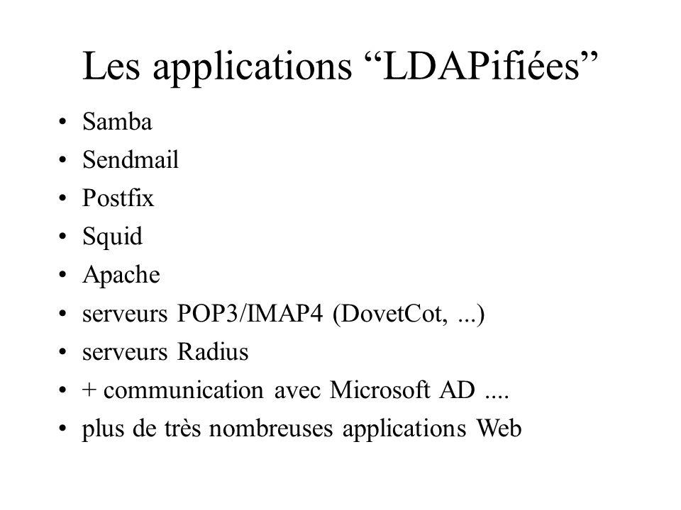 Les applications LDAPifiées