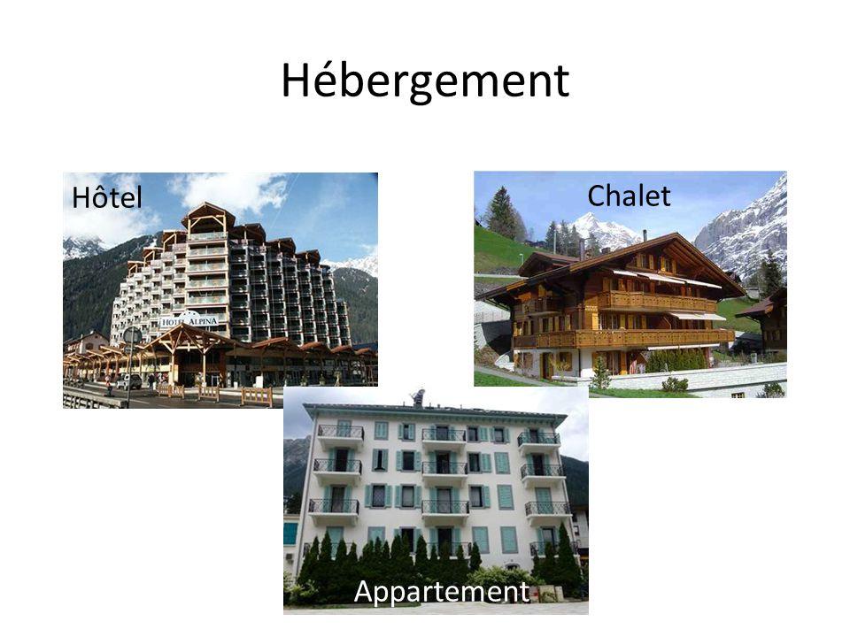 Hébergement Hôtel Chalet Appartement
