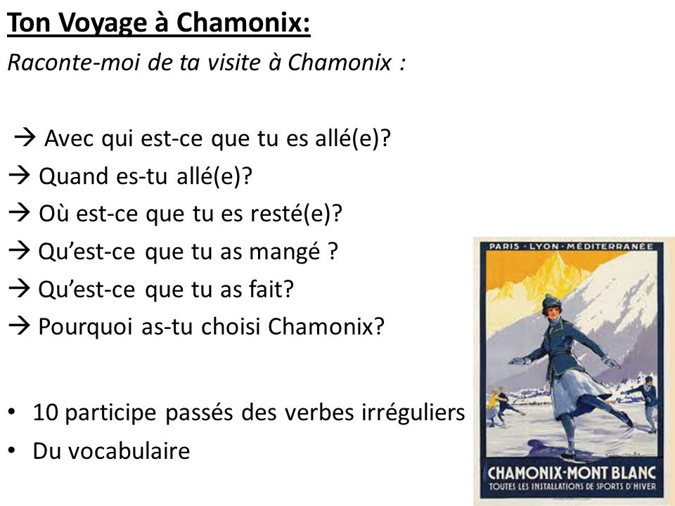 Ton Voyage à Chamonix: Raconte-moi de ta visite à Chamonix :