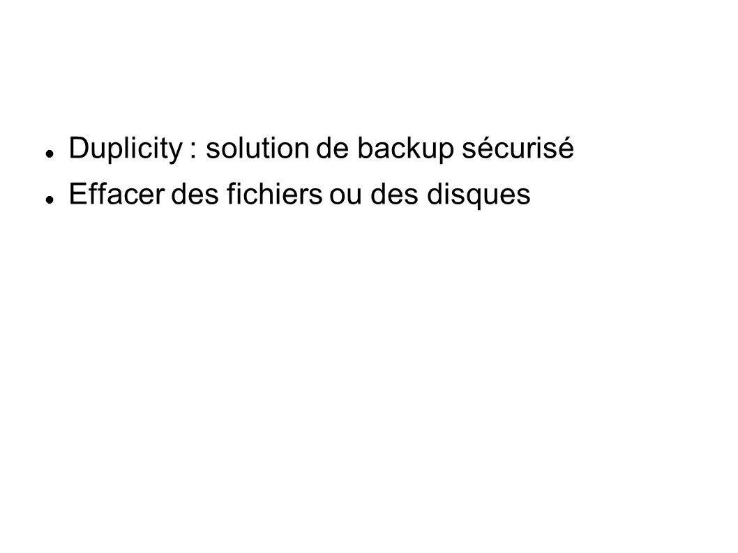 Duplicity : solution de backup sécurisé