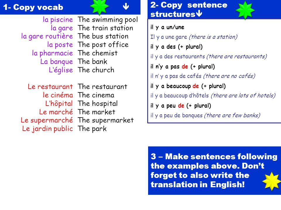 2- Copy sentence structures