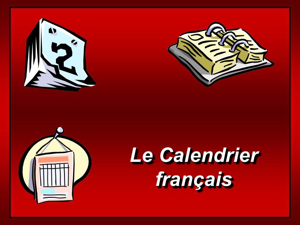 Le Calendrier français