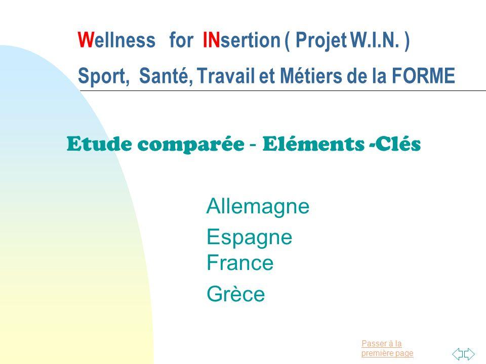 Etude comparée - Eléments -Clés Allemagne Espagne France Grèce